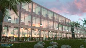 מבנה משרדים מודולארט